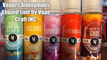 Vape Craft Inc's Vapor Anonymous E-Liquid Line Review